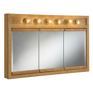 Richland 48 Inch Six-Light Tri-View Cabinet