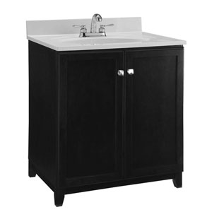 Furniture-Style Vanity Cabinet, 30-inches by 21-inches, Espresso