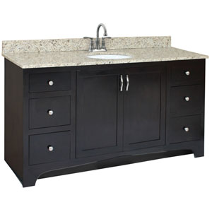 Ventura 60-Inch Espresso Vanity Cabinet without Top