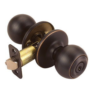 Ball Oil Rubbed Bronze Two-Way Latch Entry Door Knob