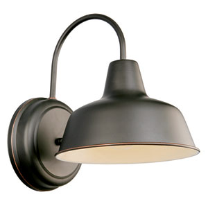 Mason Oil Rubbed Bronze Outdoor Wall Mounted Light