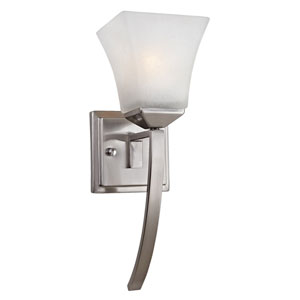 Torino Satin Nickel Single-Light Extended Wall Sconce