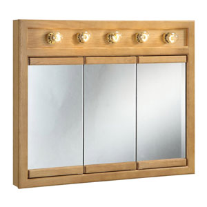 Richland 36 Inch Five-Light Tri-View Cabinet