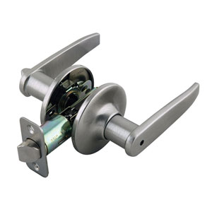 Delavan Satin Nickel Two-Way Latch Privacy Door Handle