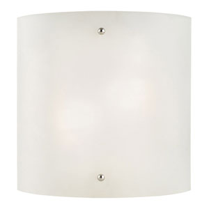 Weston Satin Nickel Two-Light Half-Cylinder Wall Sconce