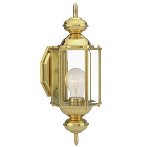 Augusta Polished Brass Outdoor Uplight
