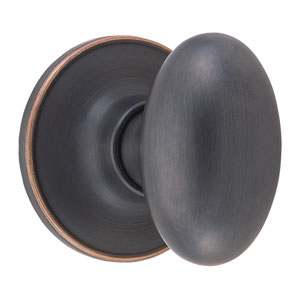 Egg Oil Rubbed Bronze Reversible Oval Dummy Knob