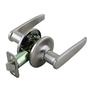Delavan Satin Nickel Two-Way Latch Passage Door Handle