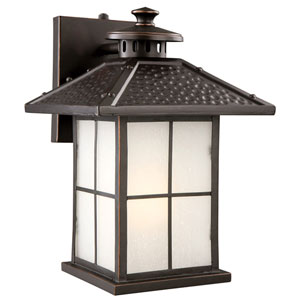 Gladstone Oil Rubbed Bronze Outdoor Fluorescent Downlight Wall Mount