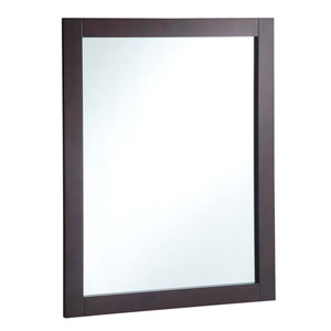 24-inch by 30-inch Vanity Mirror, Espresso