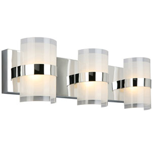 Haswell 3-Light LED Wall Light, Polished Chrome