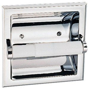 Millbridge Polished Chrome Recessed Toilet Paper Holder