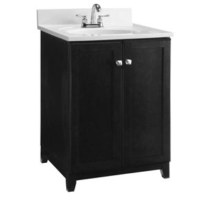 Furniture-Style Vanity Cabinet, 24-inches by 21-inches, Espresso