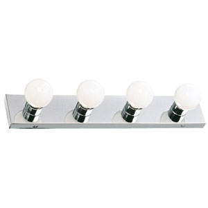 The Village Polished Chrome Four-Light Vanity