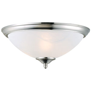 Trevie Satin Nickel Two-Light Ceiling Mount