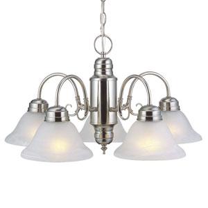 Millbridge Satin Nickel Five-Light Chandelier