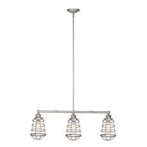 Ajax Galvanized 3-Light Pendant