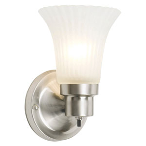 The Village Satin Nickel Single-Light Wall Sconce
