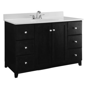 Furniture-Style Vanity Cabinet, 48-inches by 21-inches, Espresso