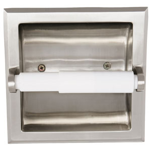 Millbridge Satin Nickel Recessed Toilet Paper Holder