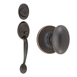 Coventry Oil Rubbed Bronze Two-Way Handle Set with Egg Knob