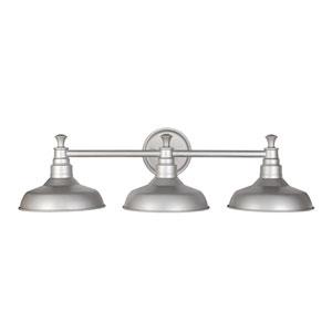 Kimball Galvanized 3-Light Bathroom Vanity Light