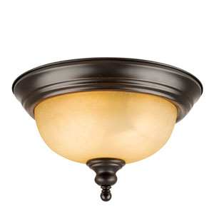 Bristol Oil Rubbed Bronze Two-Light Ceiling Mount