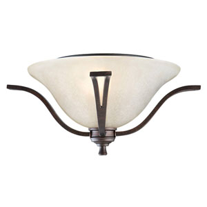 Ironwood Two-Light Brushed Bronze Ceiling Mount
