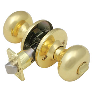Cambridge Polished Brass Two-Way Latch Privacy Door Knob