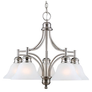 Bristol Satin Nickel Five-Light Chandelier