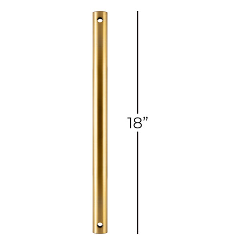 Antique Brass 18-Inch Downrod