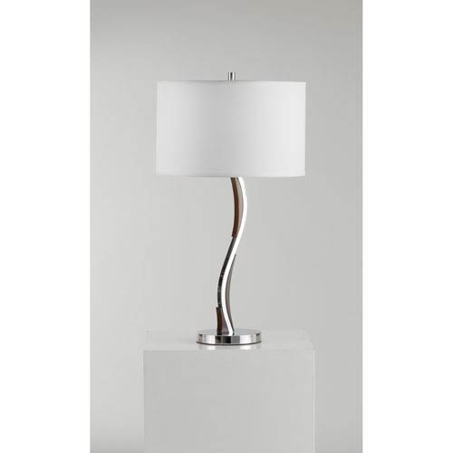 Serpentine Chrome One-Light Table Lamp