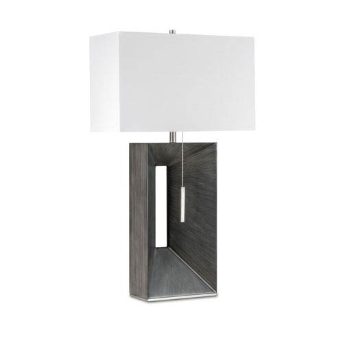 Parallux Charcoal Gray One-Light Standing Table Lamp