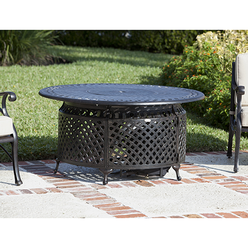 Well Traveled Living Venza Cast Aluminum Round  LPG Fire Pit
