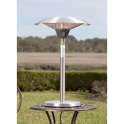 Well Traveled Living Cimarron Stainless Steel Table Top Halogen Patio Heater