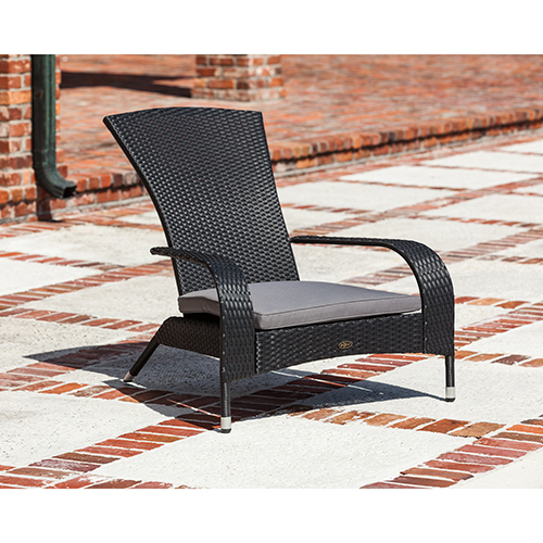Well Traveled Living Black Coconino Wicker Chair
