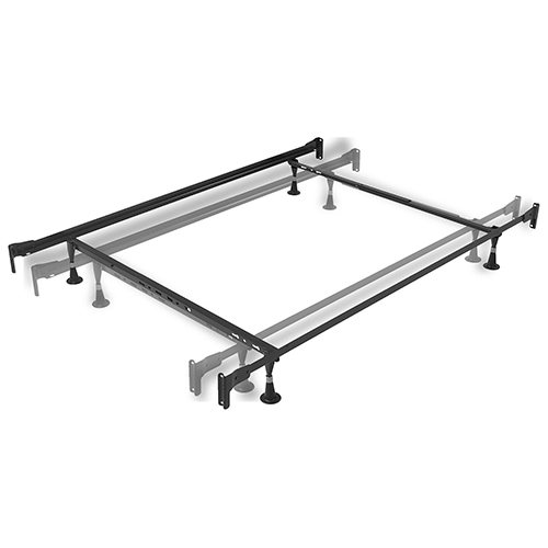 Engineered Adjustable 834 Twin/Full Bed Frame with Fixed Head and Foot Panel Brackets and Four Glide Legs