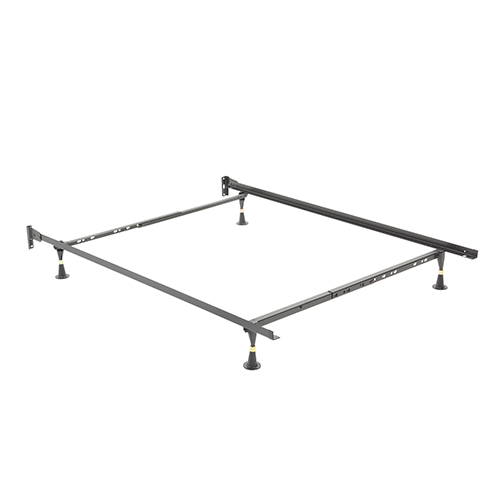 Adjustable Twin/Full 634 Headboard Frame with Fixed Brackets and Four Glide Legs