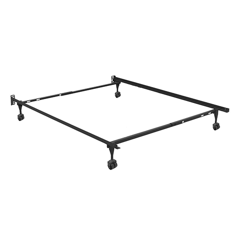 Sentry 79R Twin/Full Adjustable Bed Frame with Headboard Brackets and Four 2-Inch Rug Roller Legs