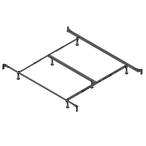 Fashion Bed Group Engineered PL860/RB California King Bed Frame with Reversed Fixed Head and Food Panel Brackets and Six