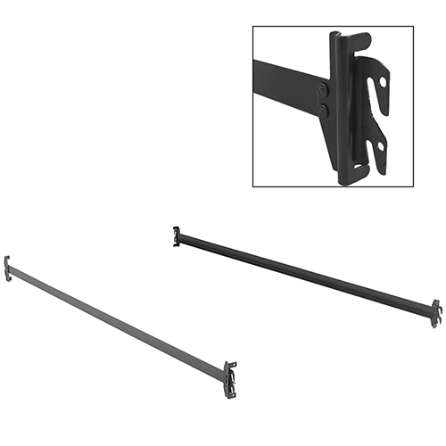 75-Inch 140H Bed Frame Side Rails with Hook-On Brackets for Headboards and Footboards, Twin / Full