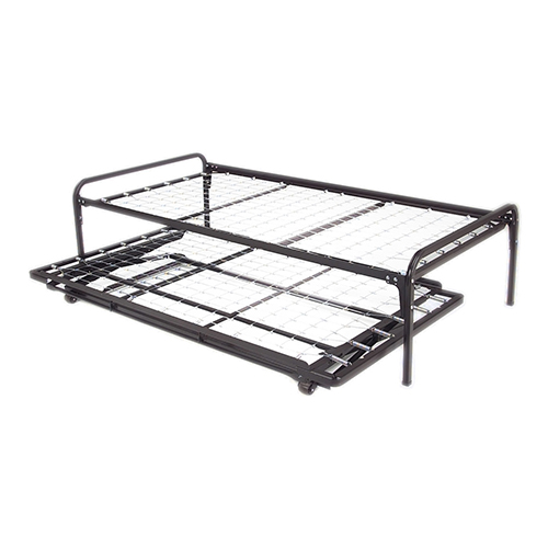 39-Inch Link Spring 48/351/66 Free Standing Top Spring with Two Square Tubular Arms and Pop-Up Trundle