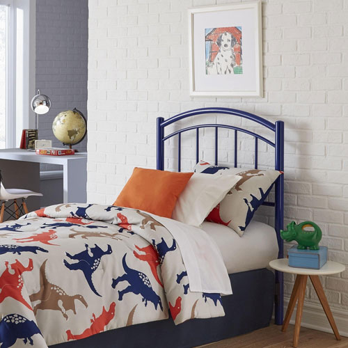 Rylan Cadet Blue Twin Metal Kids Headboard