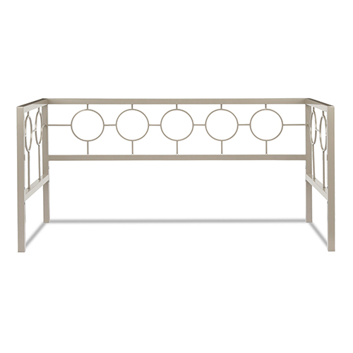 Fashion Bed Group Astoria Champagne Twin Metal Daybed Frame with Circle Design Panels and Perfect Square Profile