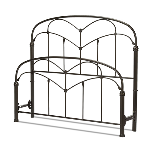 Fashion Bed Group Pomona Hazelnut California King Bed with Arched Metal Grills and Detailed Posts