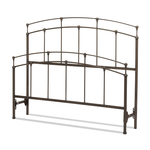 Fashion Bed Group Fenton Black Walnut Twin Bed with Metal Duo Panels and Globe Finials