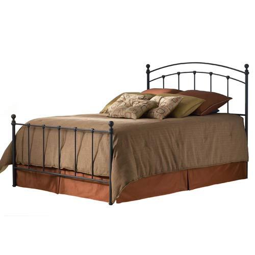 Sanford Matte Black King Bed Frame