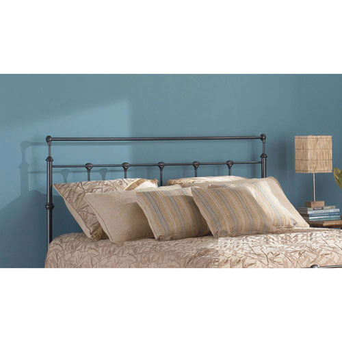 Fashion Bed Group Winslow Mahogany Gold Metal California King Headboard with Rounded Posts and Aluminum Castings