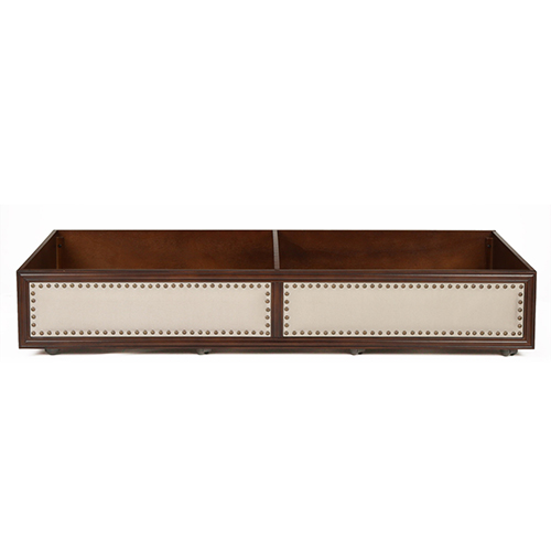 Roll Out Espresso Wood Twin Trundle Drawer for Grandover Daybed