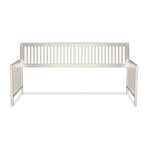 Mission Ivory Wood Twin Daybed Frame with Open-Slatted Back and Side Panels
